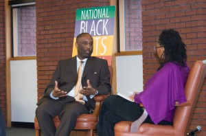 Baker interview with Opal Moore at National Black Arts Festival