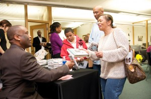 Baker at NBAF book signing