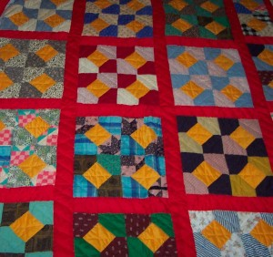 Hand-Stitched Quilt by Maggie Washington