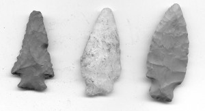 Native American Arrowheads found at Wessyngton