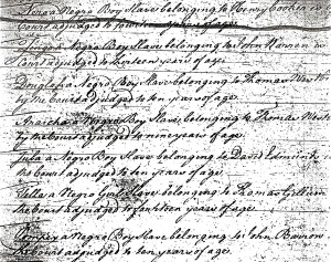 Court Orders, Southampton County, VA, 1749