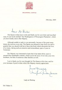 Letter from Queen Elizabeth