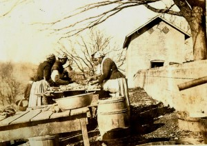 Slave Women Processing Pork on Wessyngton Plantation