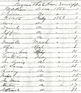 Runaway Slaves from Wessyngton Plantation 1862-1863